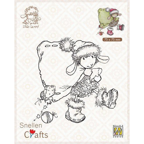 Nellie's Choice Clear stamps Little Lammy Santa Lammy SCLOLA004 75x75mm (08-19)