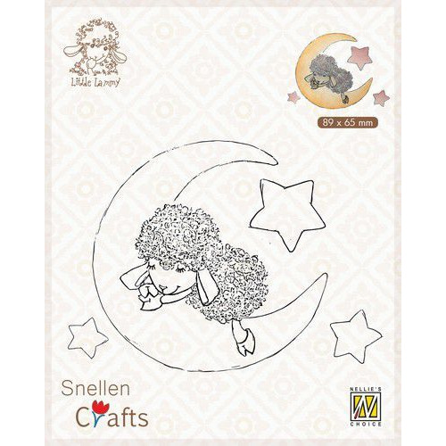 Nellie's Choice Clear stamps Little Lammy Lammy in dreamland SCLOLA007 89x65mm (08-19)