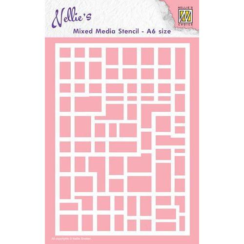 nellies Choice Mixed Media Stencils A6 rechthoeken MMSA6-008 A6 (09-19)
