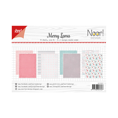 Papier Set A4 Noor - Design Merry Lama