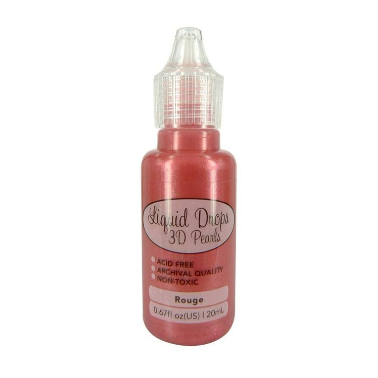 Liquid Drops 3D Pearls della Ultimate Crafts colore rouge 20 ml