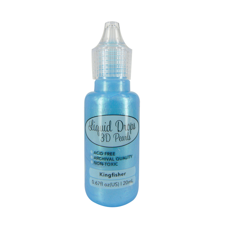Liquid Drops 3D Pearls della Ultimate Crafts colore kingfisher 20 ml