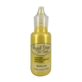 Liquid Drops 3D Pearls della Ultimate Crafts colore buttercup 20 ml