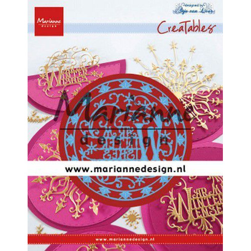 Marianne D Creatable Anja's Warm Winter Wishes (Eng) LR0620 87 mm - 67,5x69 mm (09-19)