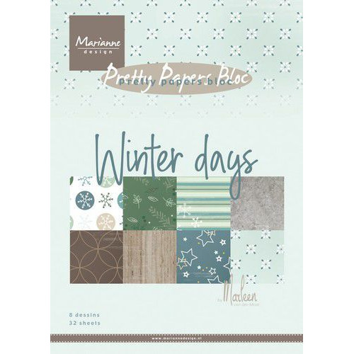 Marianne D Paperpad Marleen's Winter days PK9164 A5 15x21cm (09-19)