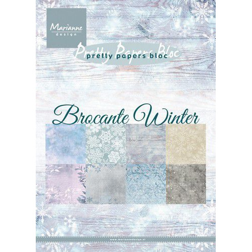 Marianne D Paperpad Brocante Winter PK9165 A5 15x21cm (09-19)