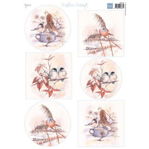 Marianne D Knipvellen Mattie's Mooiste - Winter birds MB0181 A4 6 designs (09-19)