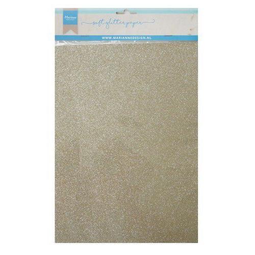 Marianne D Decoratie Soft Glitter papier 5vl - Platina CA3144 A4 (09-19)