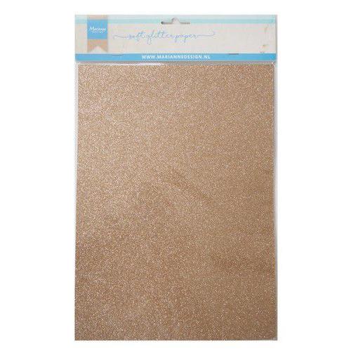 Marianne D Decoratie Soft Glitter papier 5vl - Brons CA3145 A4 (09-19)