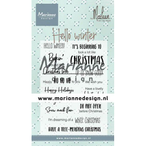 Marianne D Clear Stamps Marleen's Hello winter (Eng) CS1037 (09-19)
