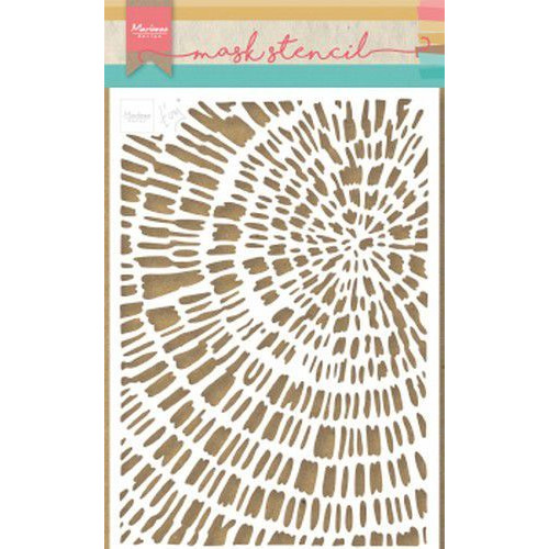 Marianne D Stencil Tiny's Sliced Wood PS8040 149x210 mm (09-19)