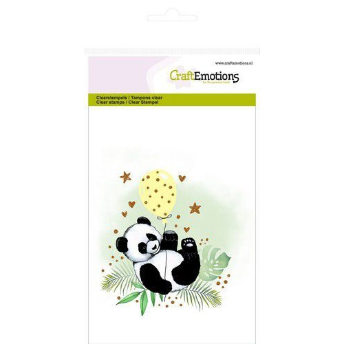 CraftEmotions clearstamps A6 - panda GB (08-19)