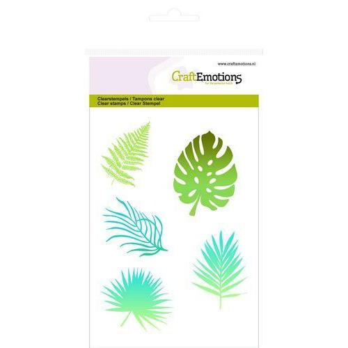 CraftEmotions clearstamps A6 - tropische bladeren silhouet GB (08-19)