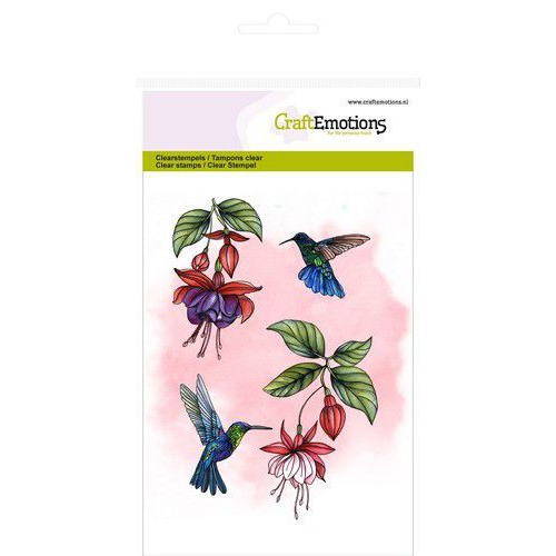 CraftEmotions clearstamps A6 - fuchsia kolibrie GB (08-19)