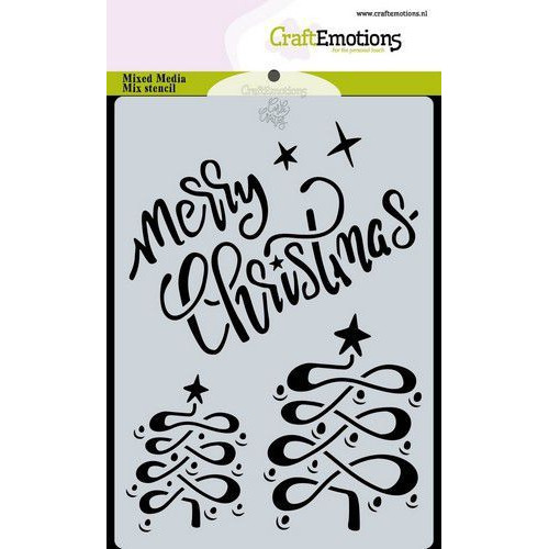 CraftEmotions Mask stencil Christmas - Merry Christmas Carla Creaties (08-19)