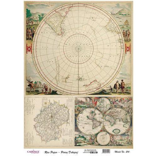 Cadence rijstpapier wereldkaart Model No: 214