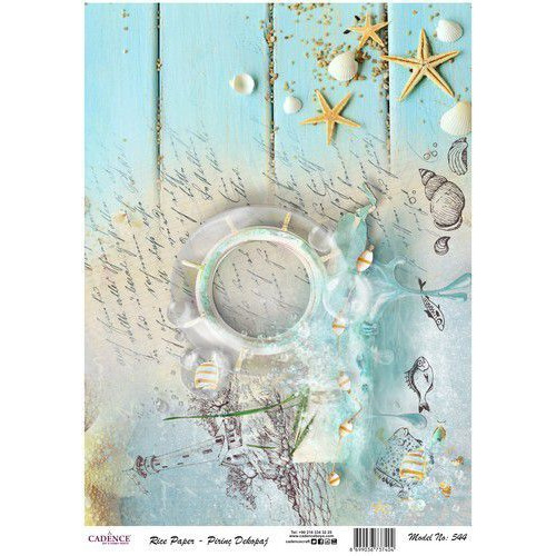 Cadence rijstpapier strand - zee Model No: 544