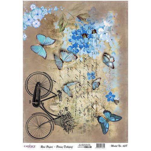 Cadence rijstpapier fiets - vlinders Model No: 638