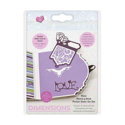 Tonic Studios Die -  Dimensions Rose Slider Die Set 2508E (08-19)