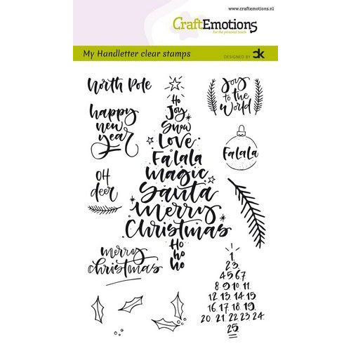 CraftEmotions clearstamps A6 - handletter -  Christmas 1 (Eng) Carla Kamphuis (08-19)