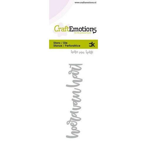 CraftEmotions Die Handletter - hoera van harte (NL) Card 5x10cm Carla Kamphuis (09-19)