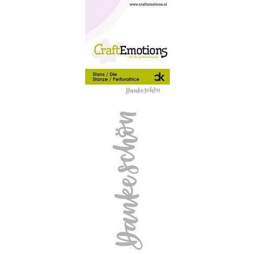 CraftEmotions Die Handletter - Danke Schön (DE) Card 5x10cm Carla Kamphuis (09-19)