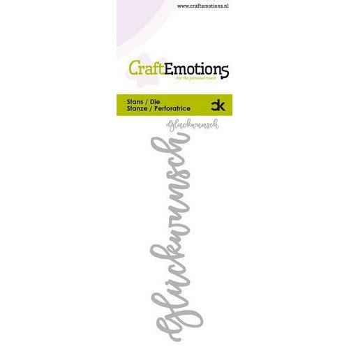 CraftEmotions Die Handletter - Glückwunsch (DE) Card 5x10cm Carla Kamphuis (09-19)
