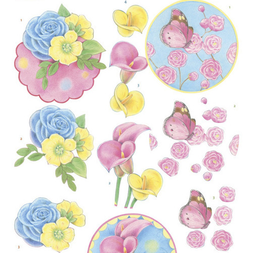 3D knipvel - Jeanine's Art -Flowers