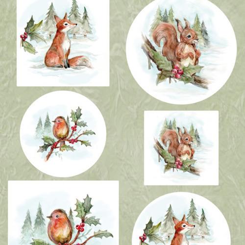 Scenery - Yvonne Creations - Aquarella - Christmas Animals