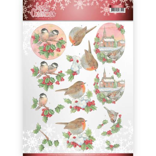 3D Knipvel - Jeanine's Art - Lovely Christmas - Lovely Birds