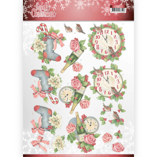 3D Knipvel - Jeanine's Art - Lovely Christmas - Lovely Christmas Time