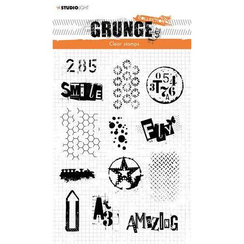Studio light Clear Stamp Grunge Collection 3.0 nr 408 STAMPSL408 210x148mm (09-19)