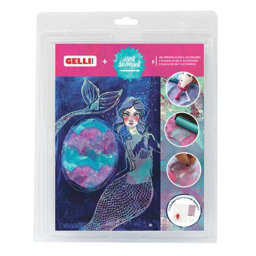 Gelli Arts - Jane Davenport Gel Printing Plate+Seashell plate GEL8X10JD (08-19)