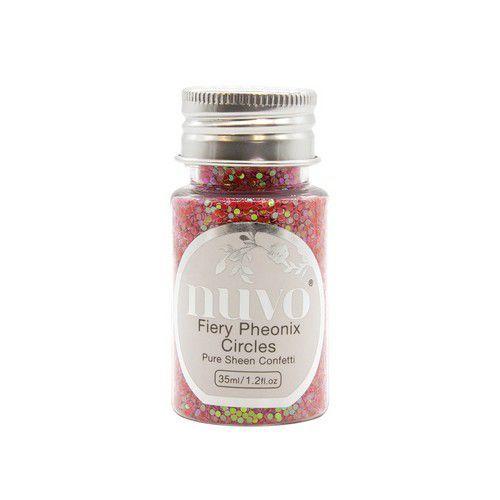 Nuvo Pure sheen confetti - fiery phoenix circles 35ml bottle 1073N (08-19)