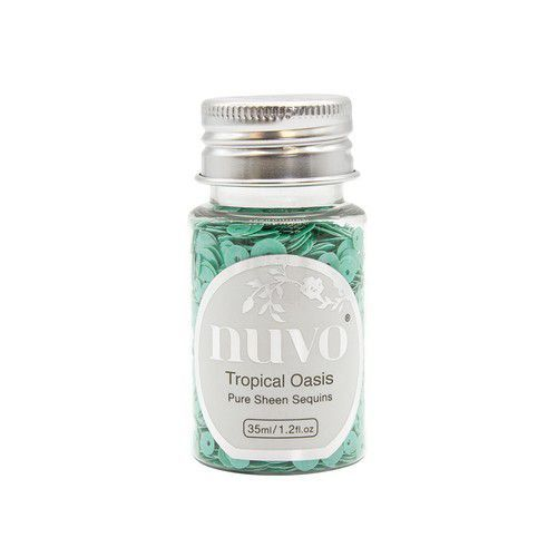 Nuvo Pure sheen sequins - tropical oasis 35ml bottle 1147N (08-19)