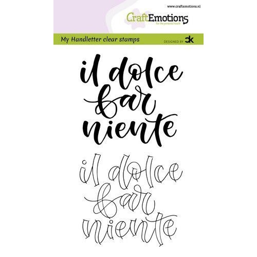 CraftEmotions clearstamps A6 - handletter -   il dolce far niente (IT) Carla Kamphuis (09-19)