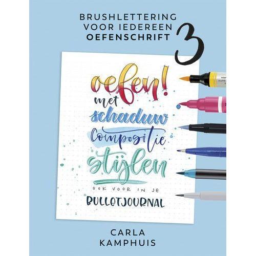 Kosmos Boek - Brushlettering voor iedereen - Oefenschrift 3 Carla Kamphuis (09-19)
