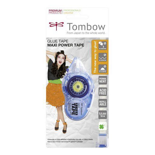 Tombow Maxi Power Tape permanent -blister 19-PN-IP 8,4 mmx16 mtr