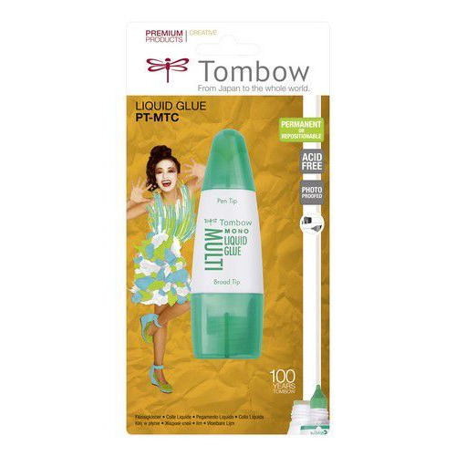 Tombow Liquid glue Multi Talent 25 ml met 2 tips-blister 19-PT-MTC