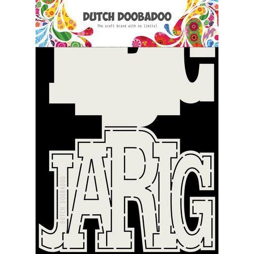 Dutch Doobadoo Card art Jarig (NL) A5 470.713.731 (09-19)