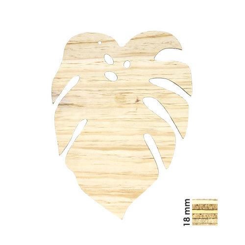 Deco Wood Tropical Leaf