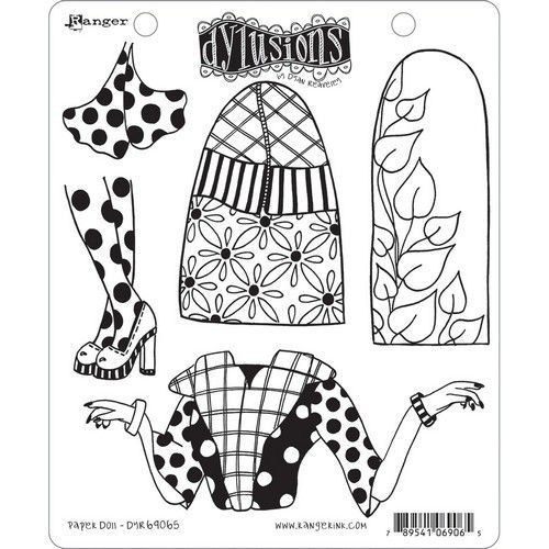 Ranger Dylusions Cling Stamp Set Paper Doll DYR69065 Dyan Reaveley (08-19)