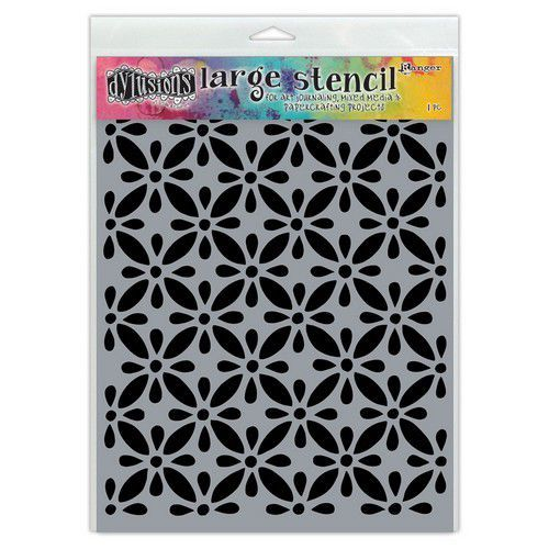 Ranger Dylusions Stencils Quilts - Large DYS68709