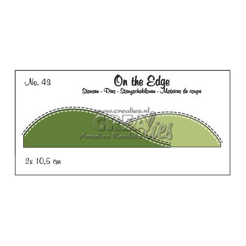 Crealies On the edge die stans no 43 CLOTE43 10,5 cm (09-19)