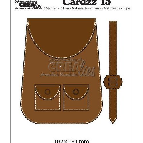 Crealies Cardzz no15 Rugzak CLCZ15 102 x 132 mm (09-19)