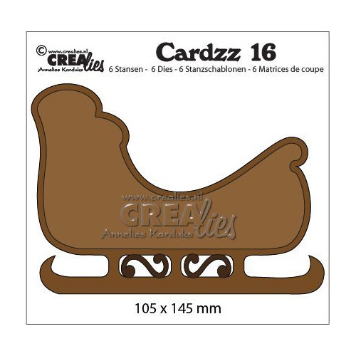 Crealies Cardzz no 16 Slee CLCZ16 145 x 104 mm (09-19)