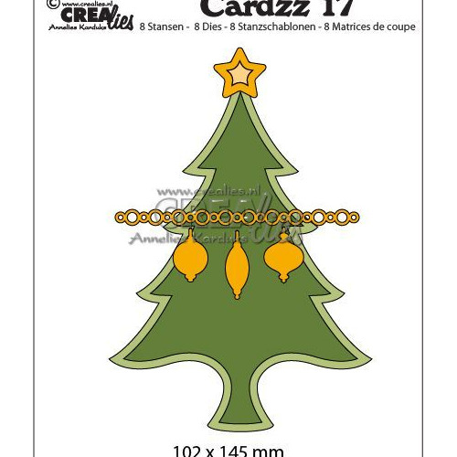 Crealies Cardzz no 17 Kerstboom CLCZ17 102 x 145 mm (09-19)
