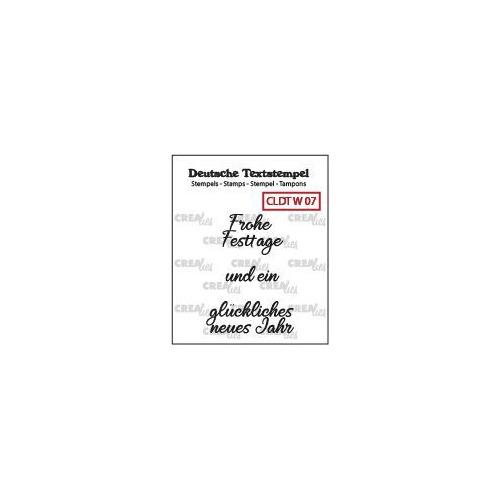 Crealies Clearstamp Tekst (DE)  So Frohe Weihnachten (07) CLDTW07 31 mm (09-19)