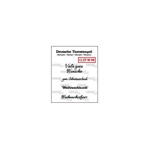 Crealies Clearstamp Tekst (DE)  So Frohe Weihnachten (09) CLDTW09 31 mm (09-19)