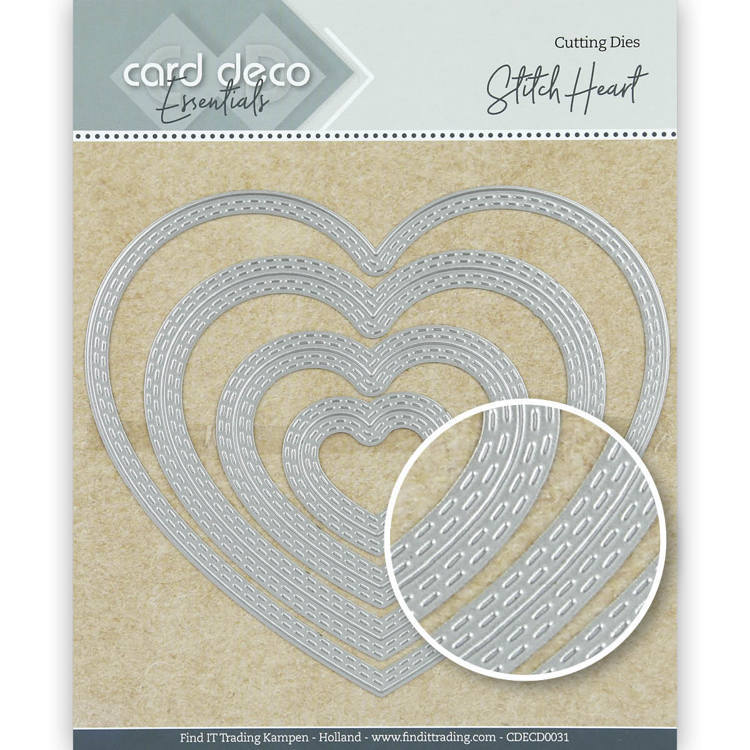 Card Deco Essentials Cutting Dies Stitch Heart